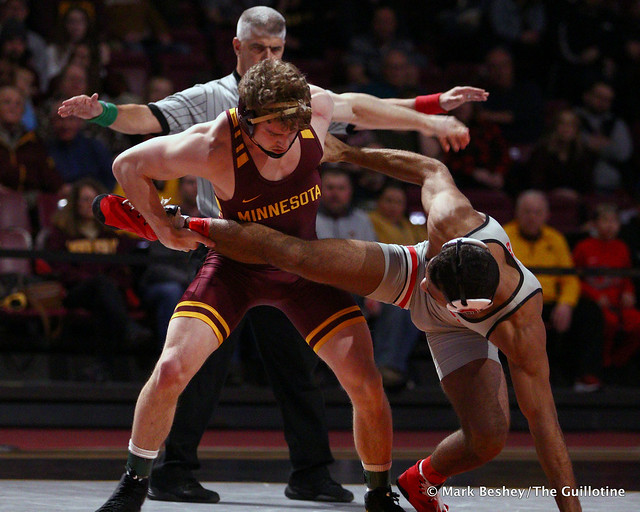 157: #21 Ryan Thomas (Minnesota) dec. Elijah Cleary (Ohio State) 3-2. 200126AMK0028