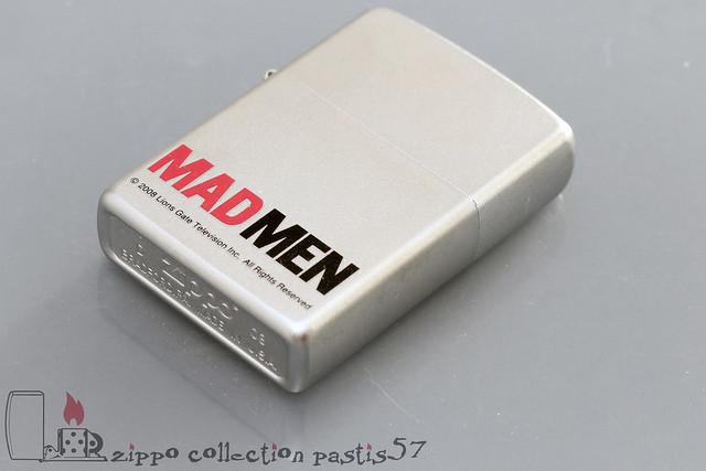 Zippo TV Mad Men 2008-04 D-08 Mad Men by Matthew Weiner with Jon Hamm January Jones 2007-2015 Reg Satin Chrome