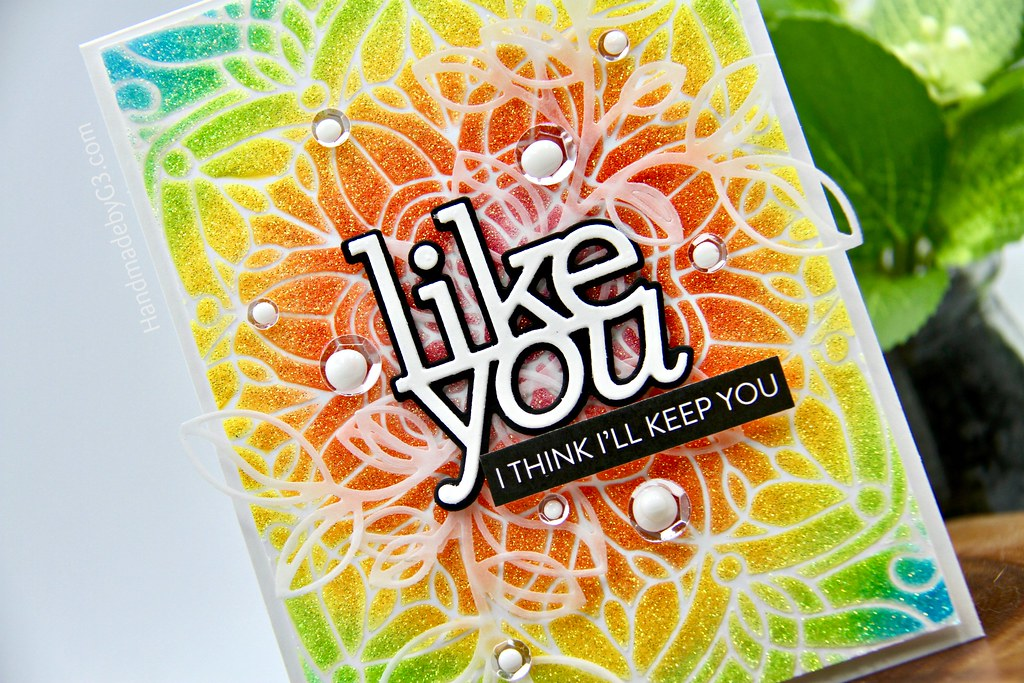 Like you card closeup