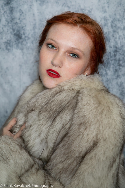 Portrait of a beautiful redhead