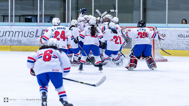 U18中華女子冰球隊收下2連勝。(圖/U18 Nationaal Vrouwenteam IJshockey Nederland FB)