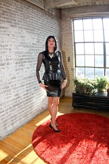 PVC Peplum Dress7