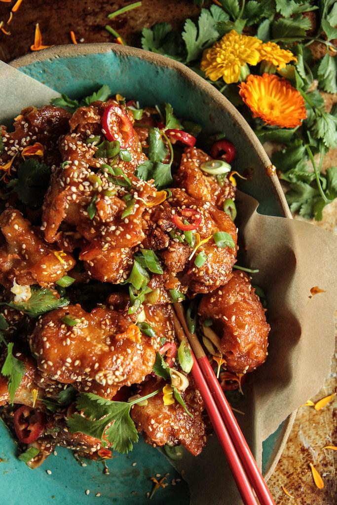 Crunchy Firecracker Cauliflower (vegan and gluten-free) from HeatherChristo.com