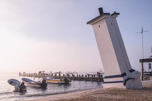 Puertos Morelos , the famous Faro Inclinado