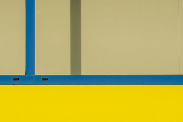 Geometry with blue window
