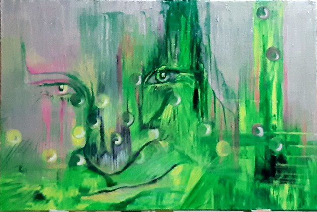 hilla ram  הילה רם  painting painter ציירת אמנית ישראלית עכשווית מודרנית אומנות אינטואיטיבית רוחנית ציור אינטואיטיבי רוחני תקשור  ריפוי באמנות  מופשט פיגורטיבי ציורים צבעוניים אמנות חזותית פלסטית