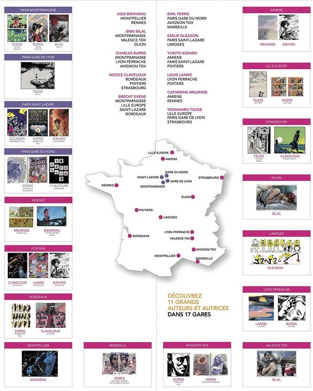 BD en gares, partout en France