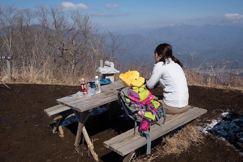 杓子山 頂上ベンチ