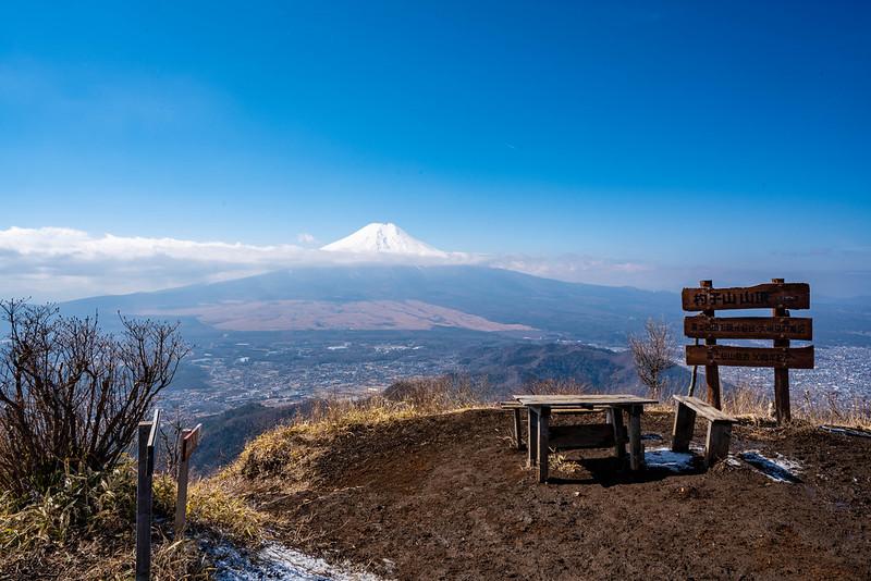 杓子山 頂上 富士山ビュー