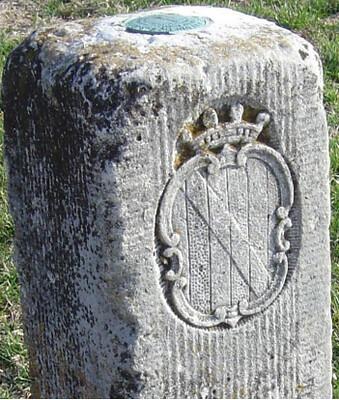 Photo of marker along Mason-Dixon line
