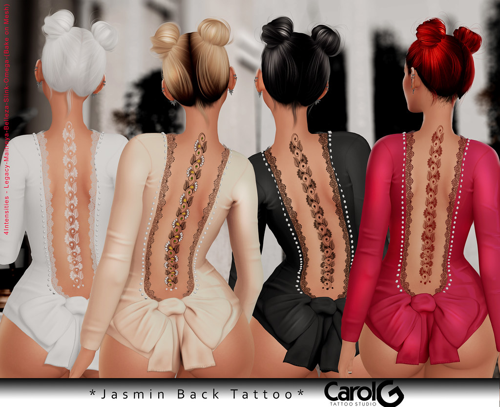 asmin Back TaTToo [CAROL G] Exclusive Cosmopolitan Event