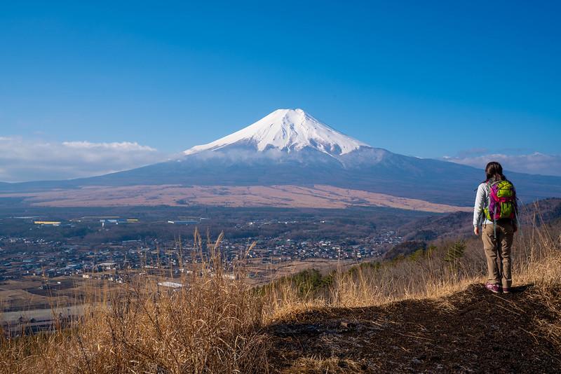杓子山から富士山ビュー