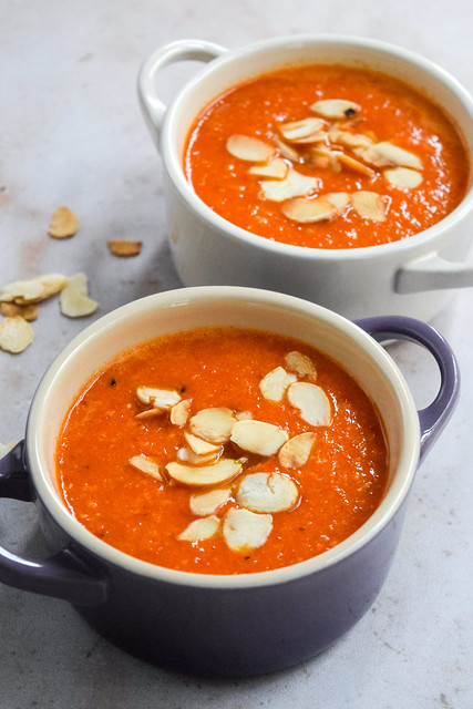Romesco Roasted Red Pepper Soup
