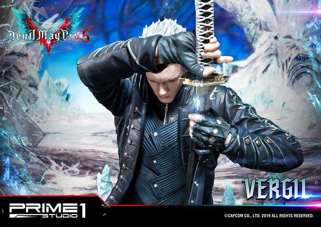 刀光劍影之兄弟情誼!Prime 1 Studio《惡魔獵人5》Ultimate Premium Masterline 維吉爾 1/4比例雕像(デビルメイクライ5 バージル)