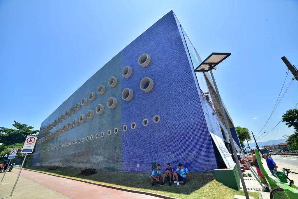 Entrega Ginásio Poliesportivo Em Santos