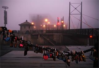 Love Locks in the fog