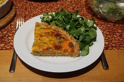 Möhrentarte mit Feldsalat (mein Teller)