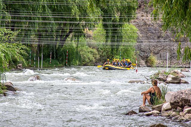 Rafting en el Río Atuel.