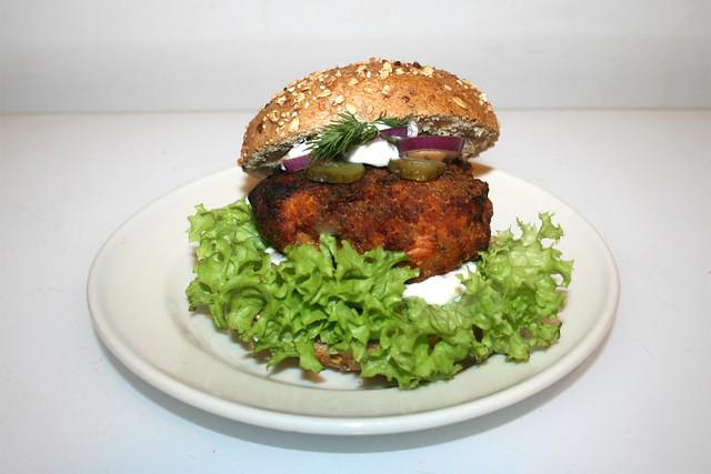 Salmon Burger / Lachs-Burger