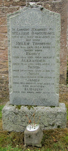 War Deaths Inscription, Forteviot