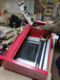 Paul upgrades the laser cutter with a new 32 bit board.