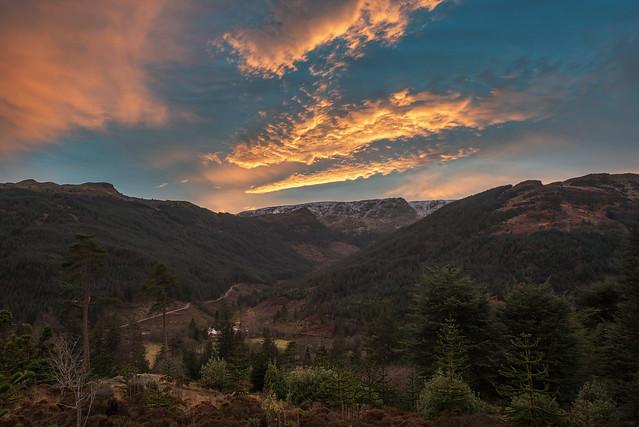 Sunset Over Glen Massan