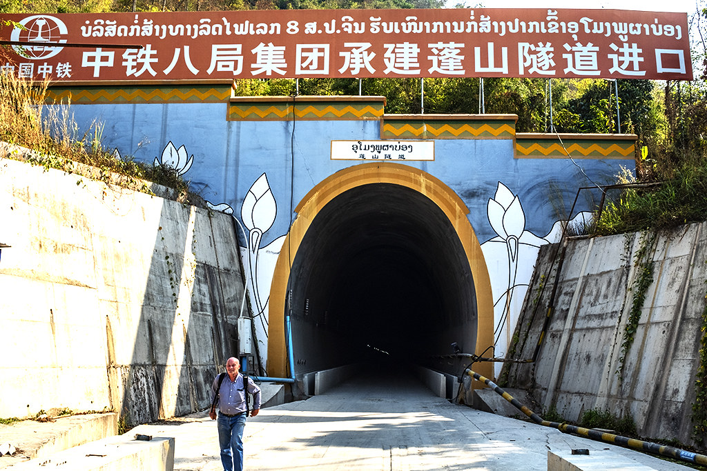 Chinese built railroad tunnel under construction--Pha O 2