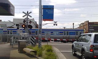 Bentleigh level crossing, January 2010 | by Daniel Bowen