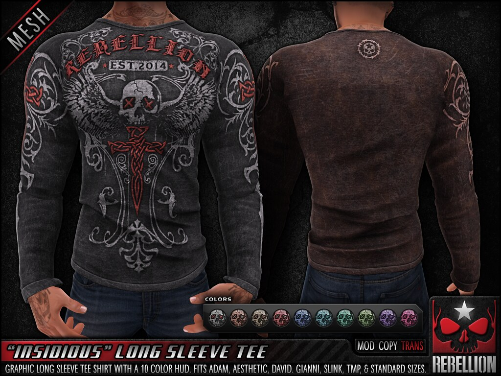 "= REBELLION = ""INSIDIOUS"" LONG SLEEVE TEE"