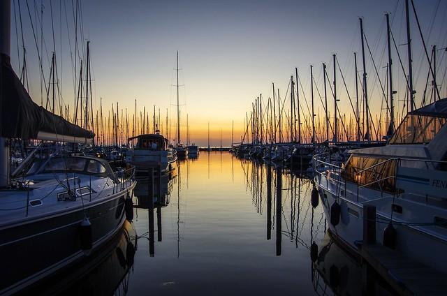 Mein Lieblingsbild von letzten SegeltörnAbends im der Marina von Hindeloopen (NL)