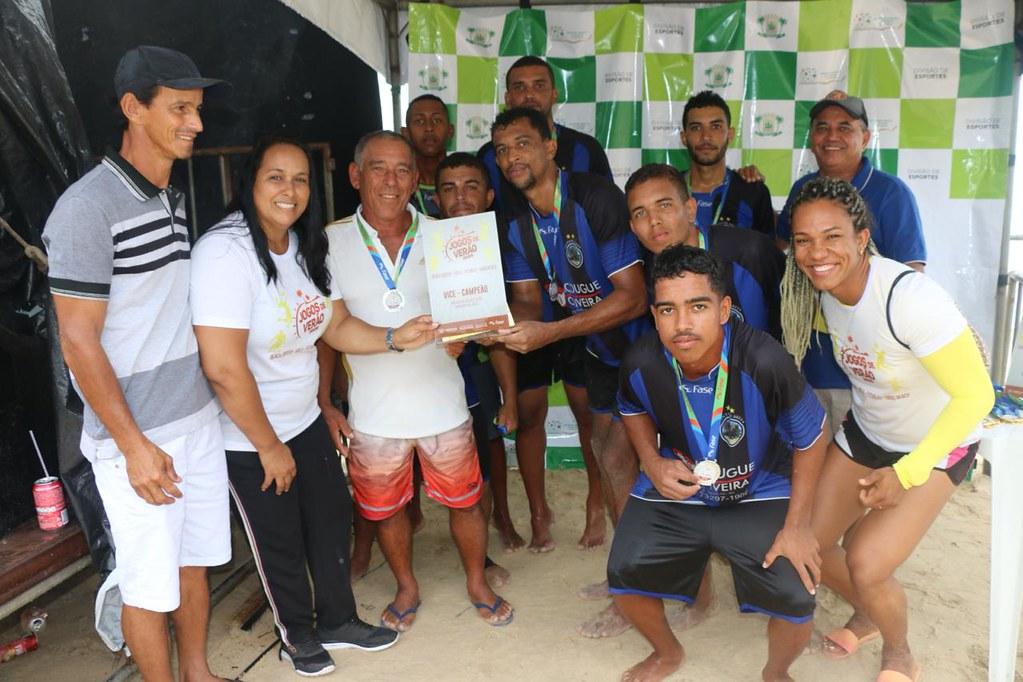 Premiação nos Jogos de Verão 2020 de Caravelas