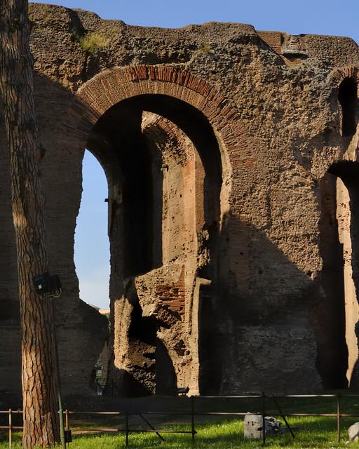 Ruins of Domus Augustana, Domitian, 92 CE - Palatine Hill, Rome..