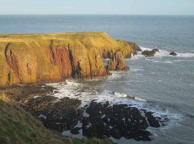 Dunnottar Castle, cliffs, Aberdeenshire