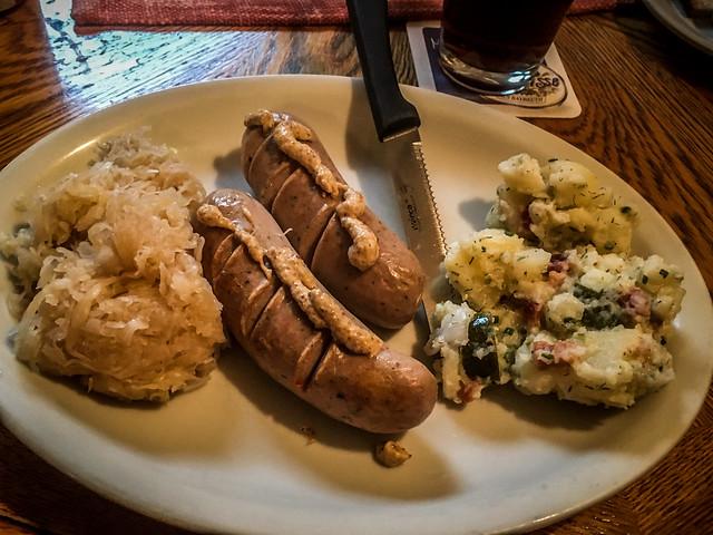 """Sausage platter at Berliner Kindl in Black Mountain"""""""