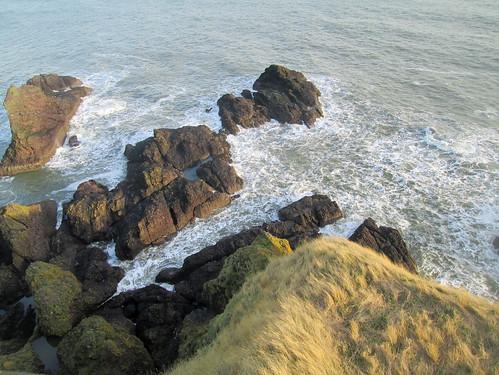 Dunnottar  Castle rocks