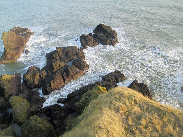 Dunnottar  Castle rocks