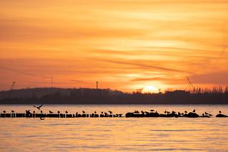 Sundown in Laboe (bei Kiel)
