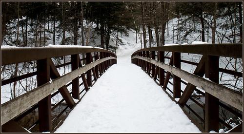 bridge over Sand Creek