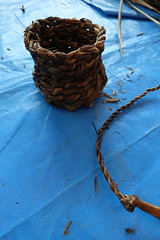 Finished basket and cord