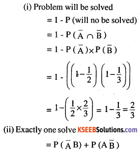 2nd PUC Maths Question Bank Chapter 13 Probability Ex 13.2 12