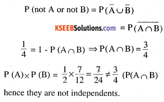 2nd PUC Maths Question Bank Chapter 13 Probability Ex 13.2 9