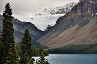 Mountainsides and Glacier in the Canadian Rockies (Banff National Park)