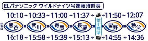 ELパナソニック ワイルドナイツ号☆運転時刻表