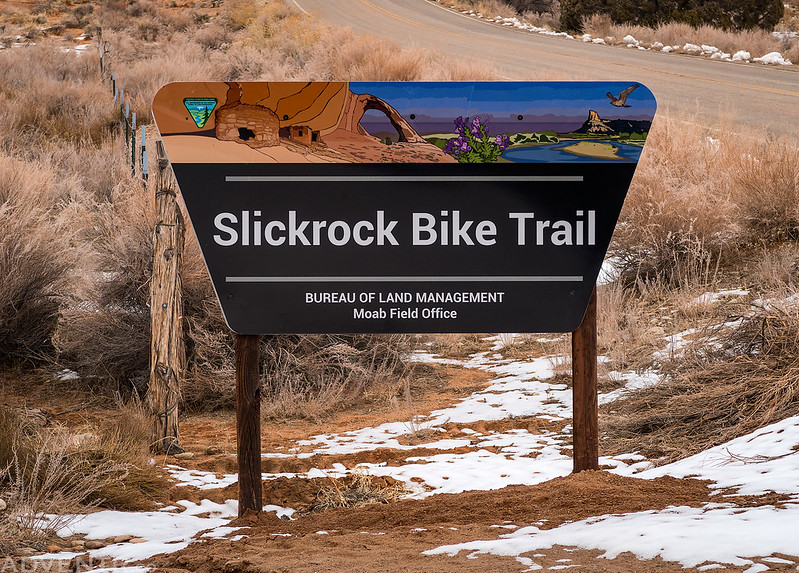 Slickrock Bike Trail Sign
