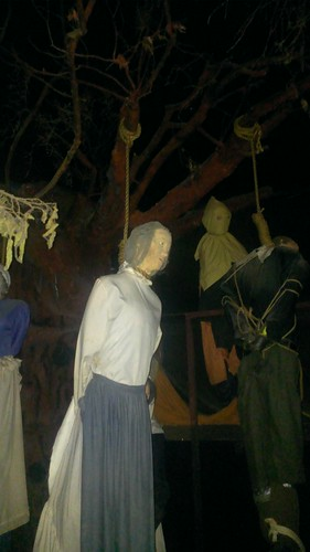 Witch Hanging Exhibit, Salem Witch Museum  10/23/2013