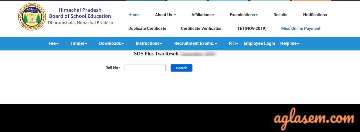 HP SOS 12th Result March 2020
