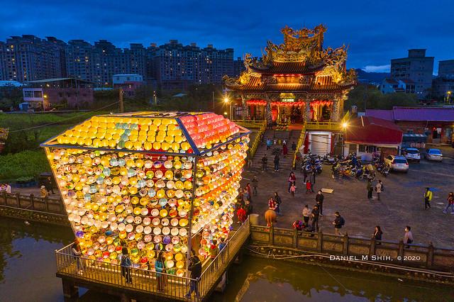An aerial view of Lantern Festival 廣行宮燈會 2020