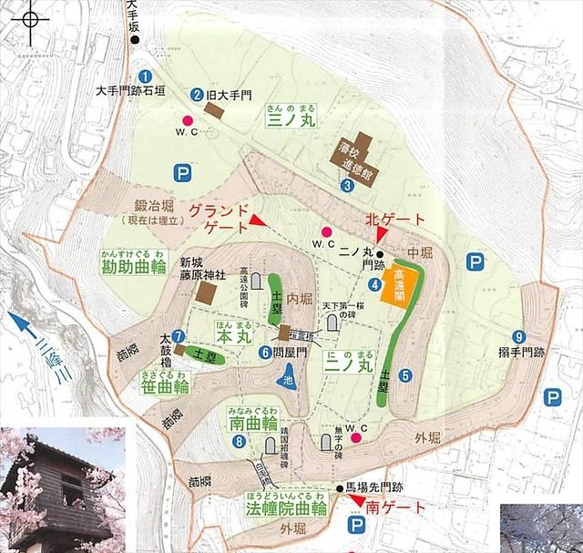 高遠城のマップ・縄張り図