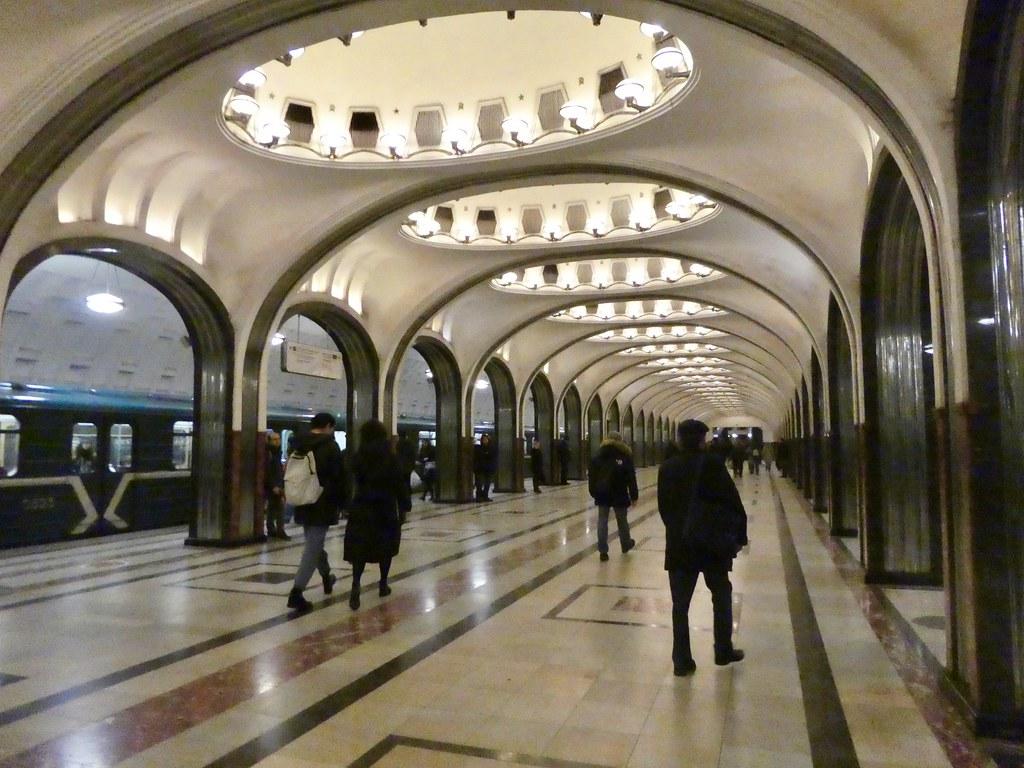 Mayakovskaya metro station Moscow