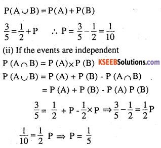 2nd PUC Maths Question Bank Chapter 13 Probability Ex 13.2 5